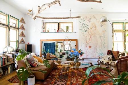 Стиль Бохо в гостиной: описание и характеристики