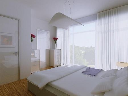 Особенности штор в спальню в стиле минимализм: характеристики и применение
