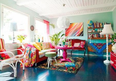 Гостиная в стиле бохо: особенности и выбор мебели