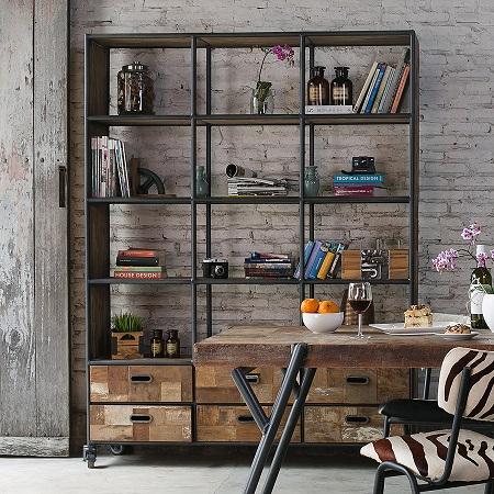 Преимущества стеллажей в доме: особенности, виды и характеристики