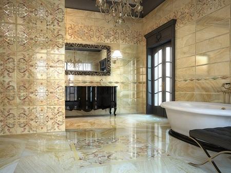 Как выбрать керамическую плитку для ванной комнаты: виды и особенности
