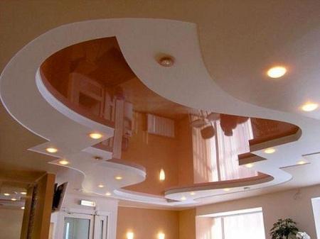 Криволинейные натяжные потолки: устройство и особенности