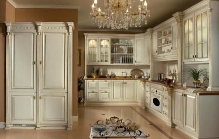 Как оформить кухню в стиле версаль: советы по выбору мебели