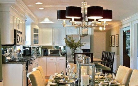 Потолочная люстра для кухни: как подобрать в соответствии с интерьером