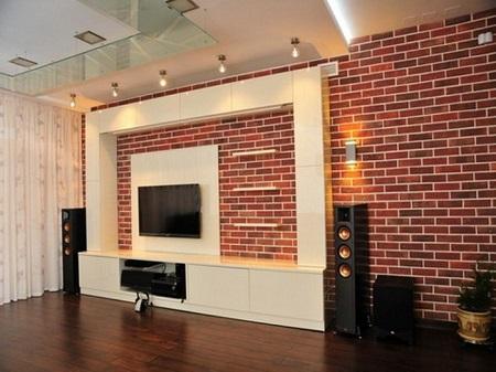 Отделка стен под кирпич: варианты создания подобного декора