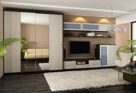 Шкаф купе для гостиной: виды мебели и ключевые критерии выбора