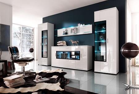 Стенки для гостиной: в чем удобство использования такой мебели