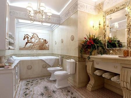Ванная в неоклассическом стиле: идеи, требования и особенности