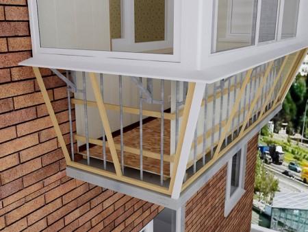Как осуществляется вынос балкона: правила и порядок действий
